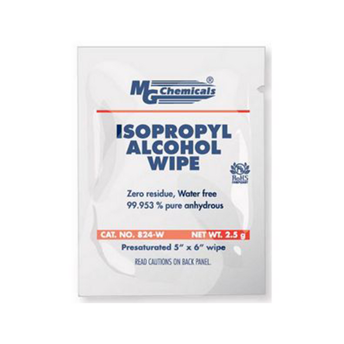 Mg Chemicals 824-WX500 IPA Wipes, 500 Wipes
