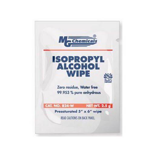 Mg Chemicals 824-WX25 IPA Wipes, 25 Wipes