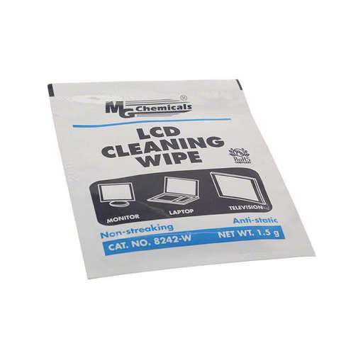 Mg Chemicals 8242-WX25 LCD Cleaning Wipes, 25 Wipes