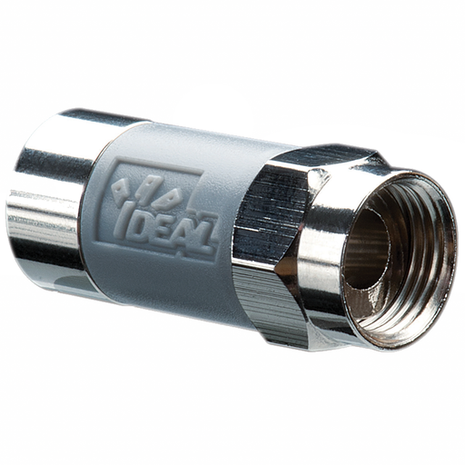Ideal 85-168 TLC Tool-Less RG-6 Compression Connector, 50/Pack