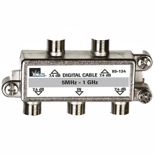 Ideal 85-134 1 GHz 4-Way Cable TV/General Purpose Splitters