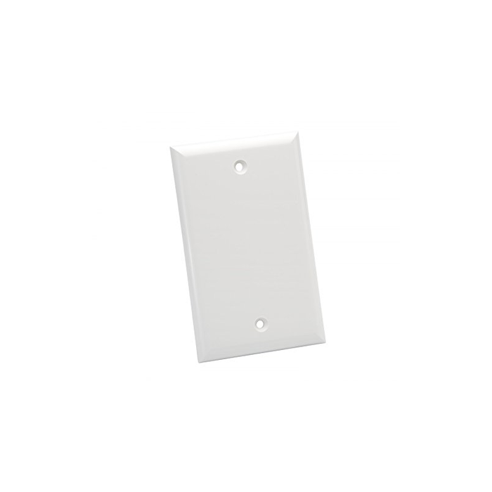 Platinum Tools 600WH-25 Wall Plate, Standard, 1 Gang Blank, 25 Piece/Installer Pack, White