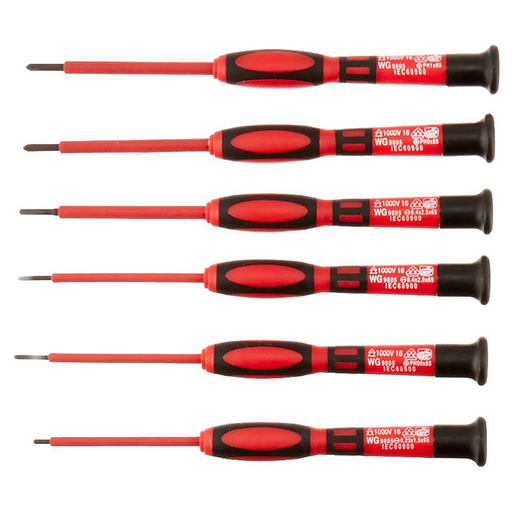 Platinum Tools 19110 1 KV Insulated Precision Screwdriver Set (Pack of 6)