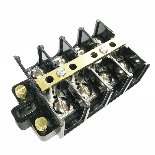 Ideal 89-505 Terminal Strip, Shorting Block, 4-Pole, 22-6 AWG