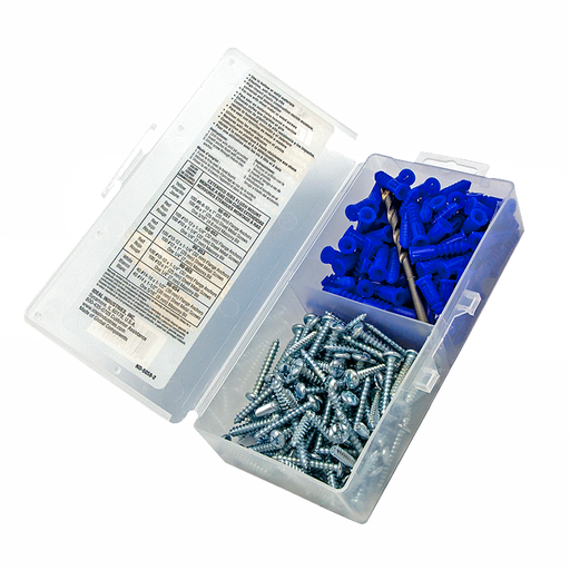 "Ideal 90-053 Flange Anchor Kit, Blue, 10-12, #12 x 1"" Screws"