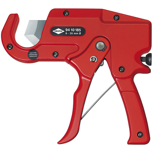 Knipex 94 10 185 Pistol Grip Plastic Pipe Cutter