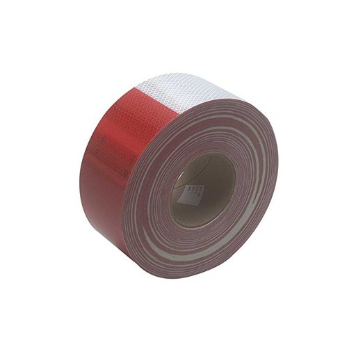 "3M 963-32 2"" x 50yd Red / White Reflective Tape"