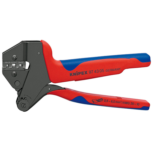 Knipex 97 43 05 4,8/6,3mm Crimp System Pliers with fixed crimping dies