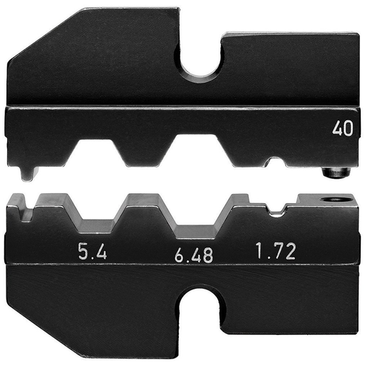 Knipex 97 49 40 Crimping Dies for for Coax connectors 3-Nester