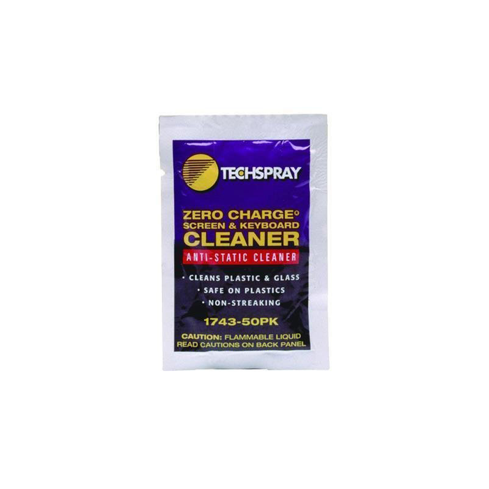 Techspray 1743-50PK Zero Charge Screen & Keyboard Cleaner