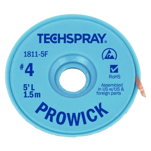 Techspray 1811-5F Desoldering Braid
