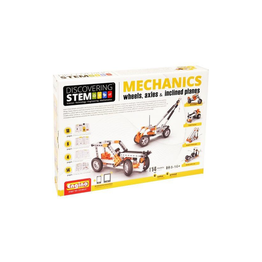 Elenco ENGSTEM-02 Engino STEM Mechanics: Wheels, Axles & Inclined Planes Kit