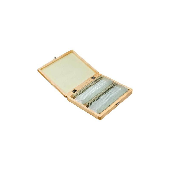 Barska AF11944 100 Prepared Microscope Slides w/ Wooden Case