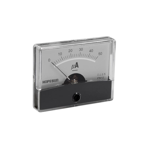 "Velleman AIM60005 50uA DC Panel Meter, Analog, 2.4"" x 1.9"""