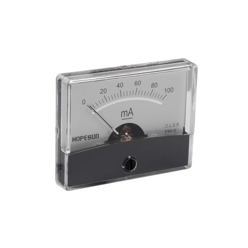 "Velleman AIM60100 100mA DC Panel Meter, Analog, 2.4"" x 1.9"""