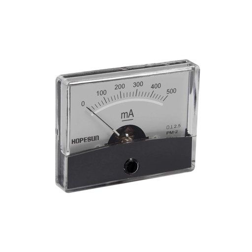 "Velleman AIM60500 500mA DC Panel Meter, Analog, 2.4"" x 1.9"""