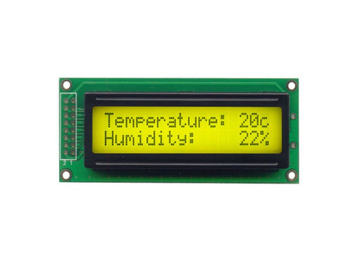 Orient Display AMC1602LR-B-Y6WFDY 2x16 Character LCD Display Module