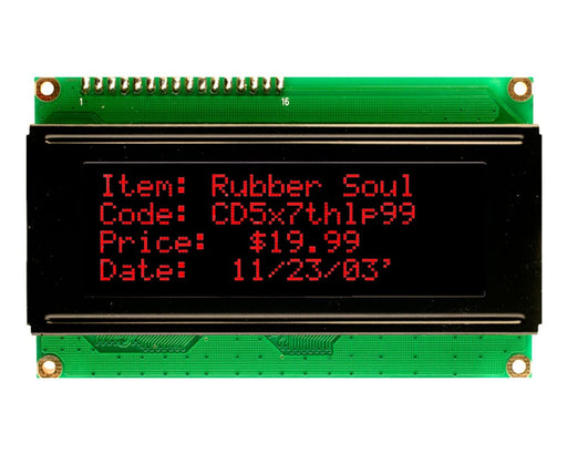 Orient Display AMC2004A-B-T6WTDR 4x20 Character LCD Display Module