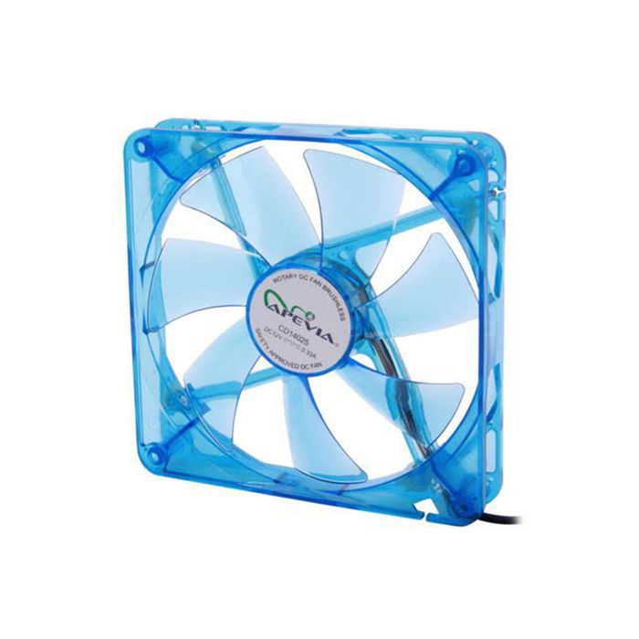 Apevia 14SL-BL 140mm Silent Blue LED Case Fan
