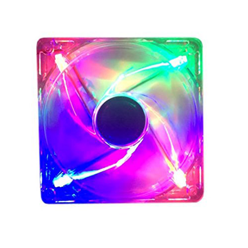 Apevia AF512L-4C Silent Multicolor LED Case Fan