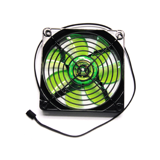 Apevia CF12SL-TGN 120mm Green LED Case Fan w/Grill