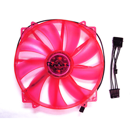Apevia CF20L-URD 200mm SILENT Red LED Case Fan
