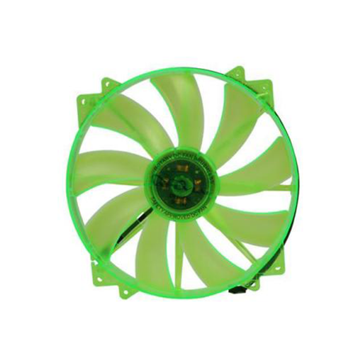 Apevia CF20SL-UGN 200mm SILENT Green LED Case Fan