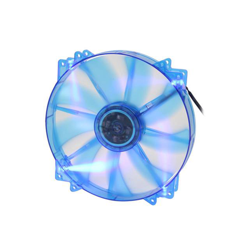 Apevia CF20SL-UBL 200mm SILENT Blue LED Case Fan