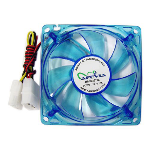 Apevia CF4SL-UBL 80mm Silent Blue LED Case Fan