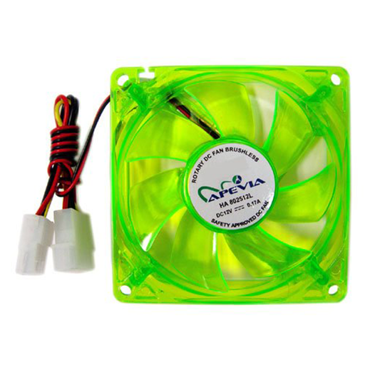 Apevia CF4SL-UGN 80mm Silent Green LED Case Fan