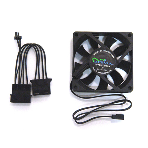 Apevia CF7025S 70mm Black Case Fan