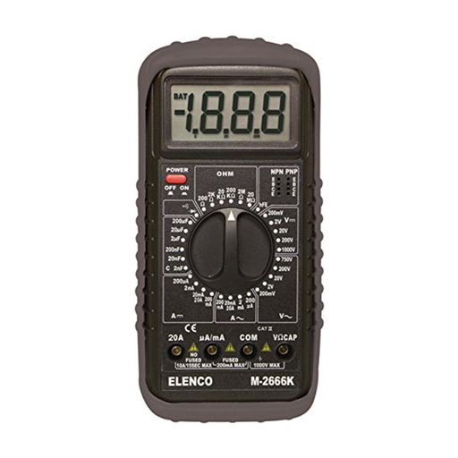 Elenco M-2666K Multimeters 3 1/2 Digit Cap. / Trans. Kit