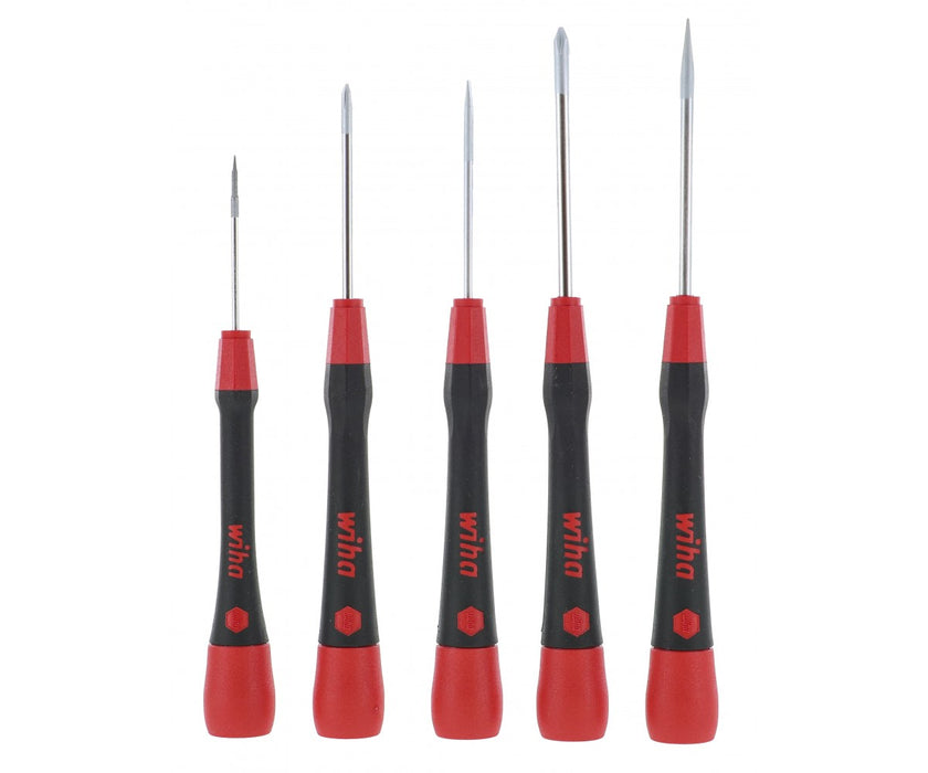 Wiha Tools 26195 PicoFinish Mini Screwdriver Set 5-Piece