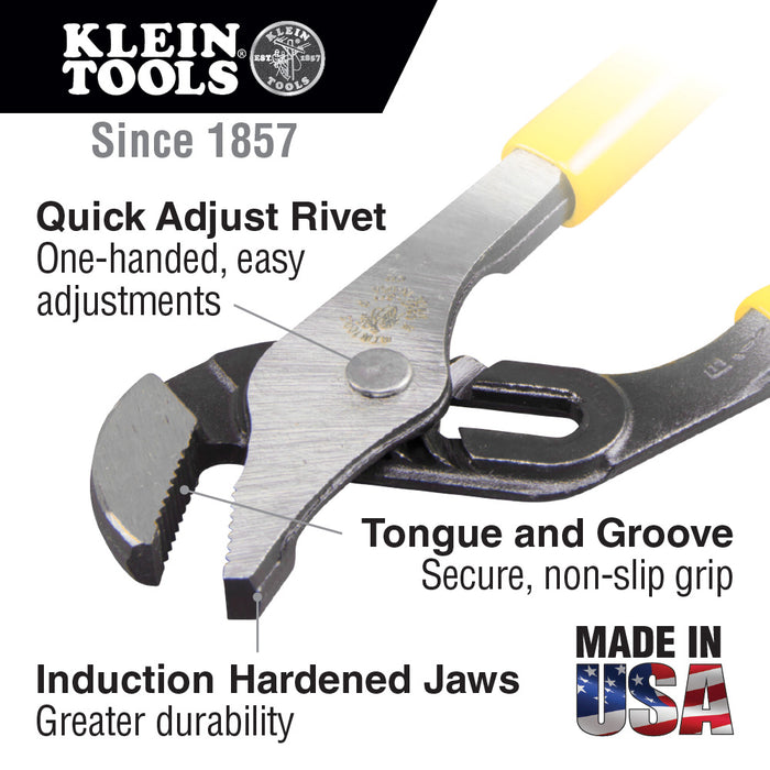 Klein Tools D502-10 Pump Pliers, 10-Inch