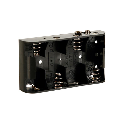 Velleman BH243B Battery Holder for 4 x C-Cell with Snap Terminals