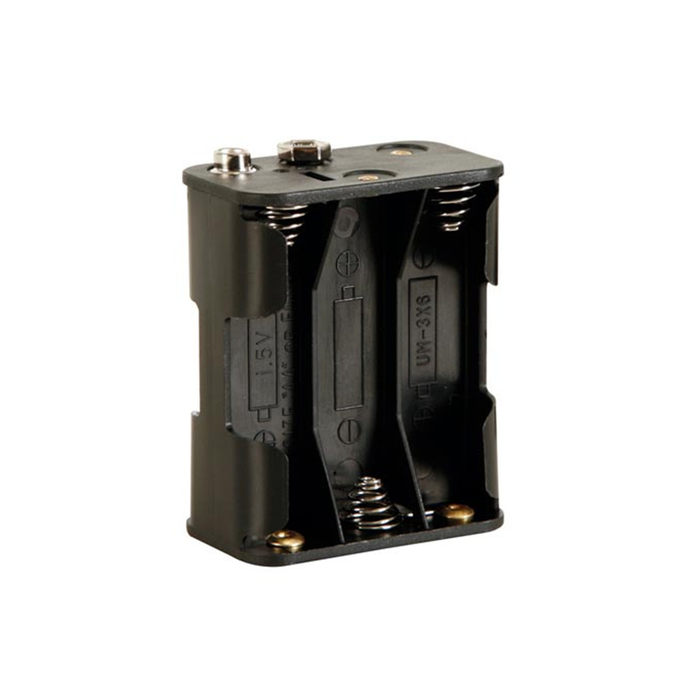 Velleman BH363B Battery Holder for 6 x AA-Cell with Snap Terminals