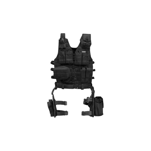 Barska BI12016 Loaded Gear VX-100 Tactical Vest and Leg Platforms