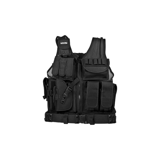 Barska BI12154 Loaded Gear VX-200 Left Handed Tactical Vest, Black