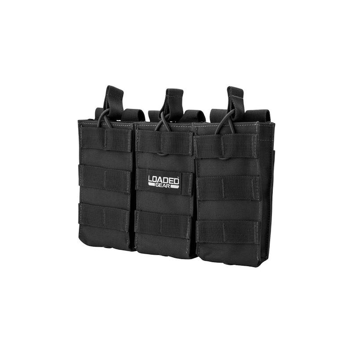 Barska BI12246 Loaded Gear CX-200 Triple Magazine Pouch (Black) By Barska