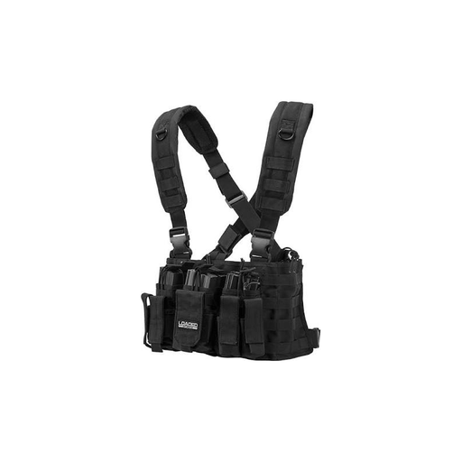 Barska BI12258 Tactical Chest Rig VX-400 Loaded Gear Black