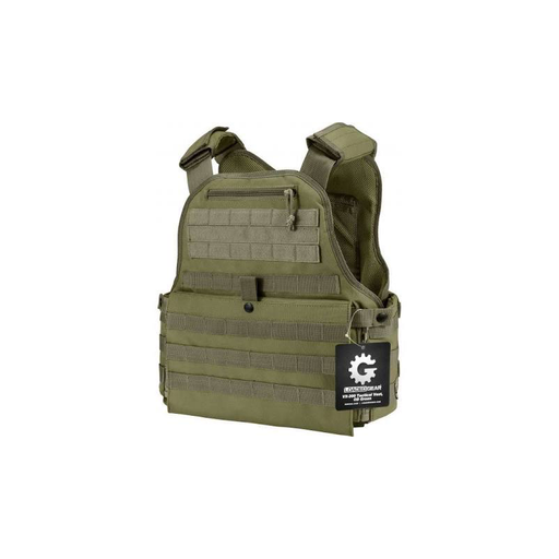 Barska BI12290 MOLLE Plate Carrier Tactical Vest VX-500 Loaded Gear OD Green