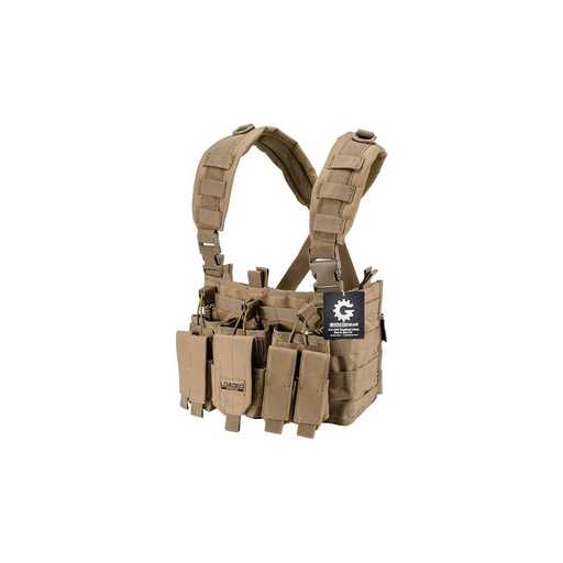 Barska BI12792 Tactical Chest Rig VX-400 Loaded Gear Tan (Flat Dark Earth)