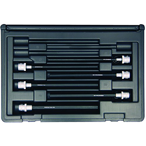 "Bondhus 30646 Socket Hex Bit Tool Set with 6"" Sockets, 6 Piece"