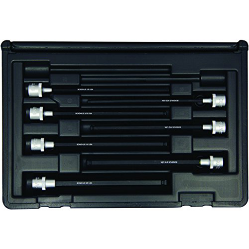 "Bondhus 30845 Socket Ball End Bit Tool Set with Sockets, 6"", 7 Piece"