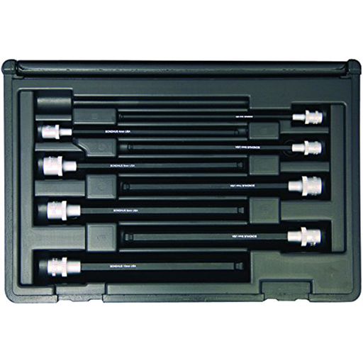 "Bondhus 30887 Socket Ball End Bit Tool Set with Sockets, 6"", 8 Piece"