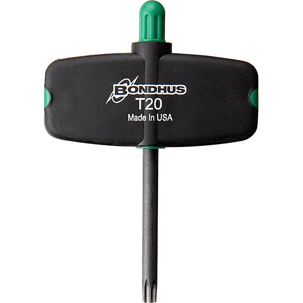 "Bondhus 34710 T10 x 1.5"" Star Tip Wing Handle Driver with ProGuard Finish, 2 Piece"