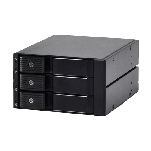 Athena Power BP-TLA2131SAC 3x 3.5HD in 2x 5.25BAY ALUMINIUM TRAY LESS