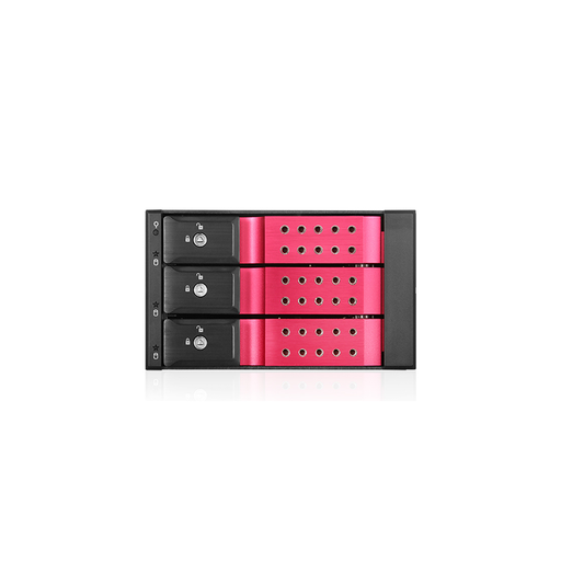 "iStarUSA BPN-DE230SS-RED  Trayless 2x5.25"" to 3x 3.5"" SAS SATA 6 Gbps HDD Hot-swap Rack"