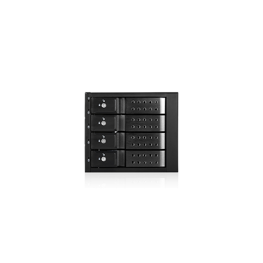 "iStarUSA BPN-DE340SS-BLACK  Trayless 3x 5.25"" to 4x 3.5"" SAS SATA 6 Gbps HDD Hot-swap Rack"