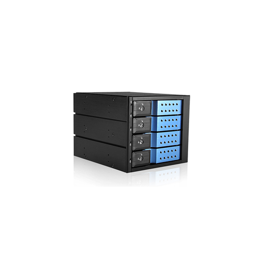 "iStarUSA BPN-DE340SS-BLUE  Trayless 3x 5.25"" to 4x 3.5"" SAS SATA 6 Gbps HDD Hot-swap Rack"